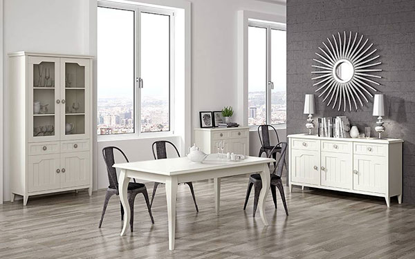 Muebles para salones aparadores vitrinas mesas de centro for Salones con vitrinas
